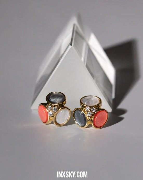AMELIA Earrings | Reddish Blue