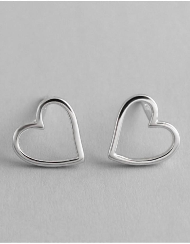 AMOUR Silver Heart Earrings