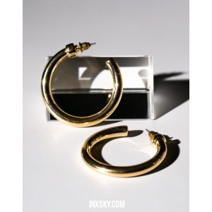 C-HOOPS Gold Earrings