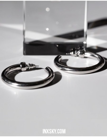 C-HOOPS Silver Earrings