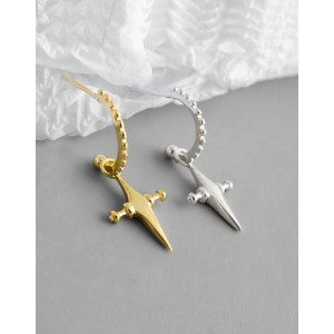 CROIX Gold Cross Earrings