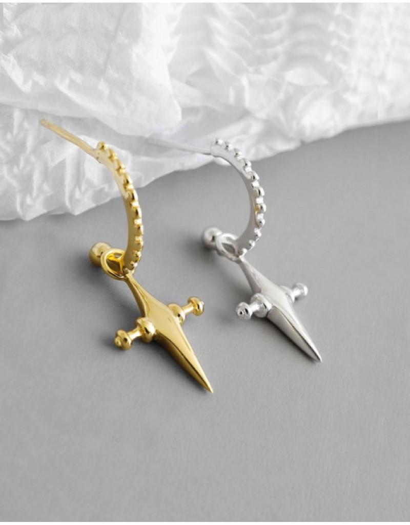 CROIX Gold Cross Earrings