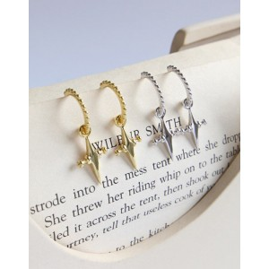 CROIX Silver Cross Earrings