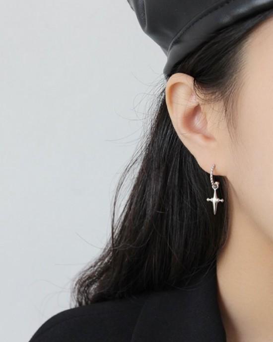 CROIX Silver Cross Earrings