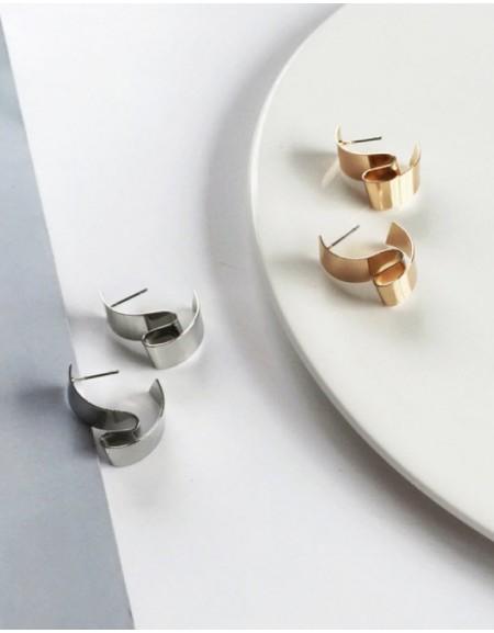 DISTORSION Gold Earrings