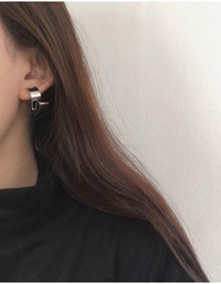 DISTORSION Silver Earrings
