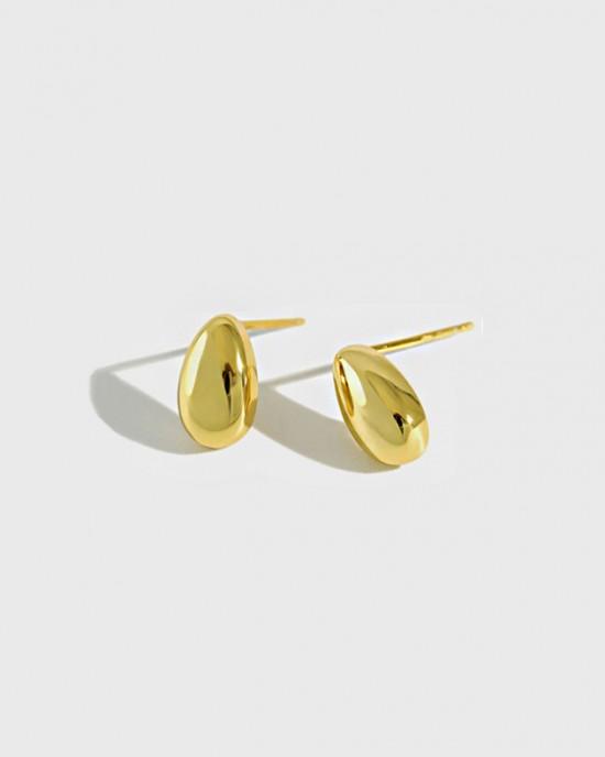 GIA Gold Vermeil Stud Earrings