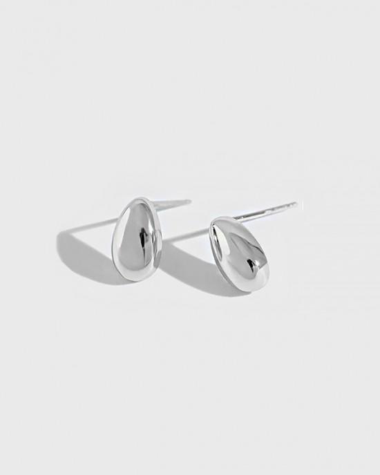 GIA Sterling Silver Stud Earrings