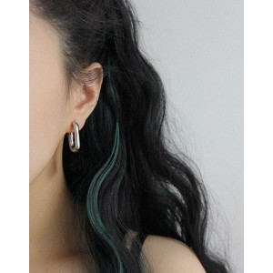 IVY Silver Hoop Earrings