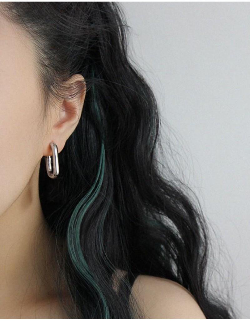IVY Silver Hoop Earrings