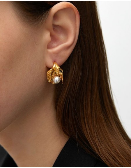 JOSÉPHINE Gold Pearl Earrings
