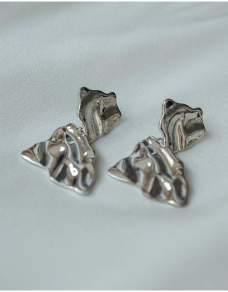 LAVA Silver Earrings