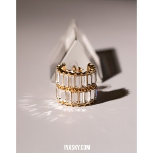 LOLA White Hoop Earrings | Big