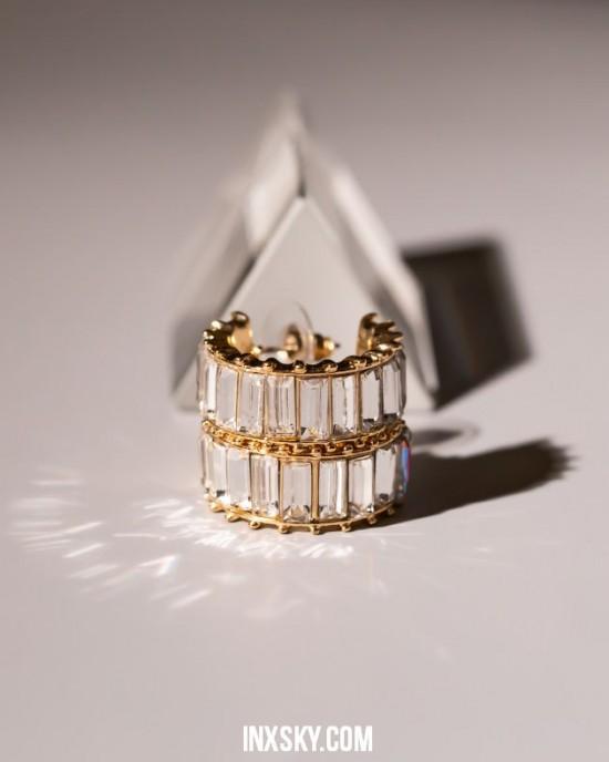 LOLA White Hoop Earrings | Big