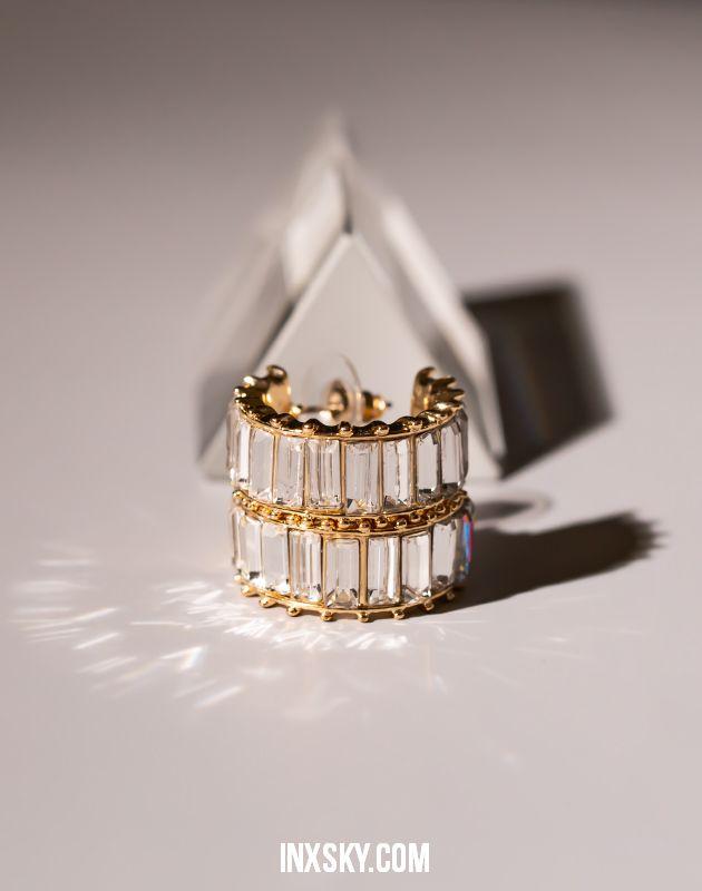 LOLA White Hoop Earrings | Big Size