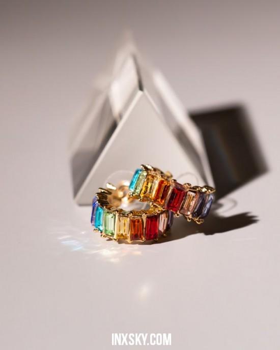 LOLA Rainbow Hoop Earrings   Small