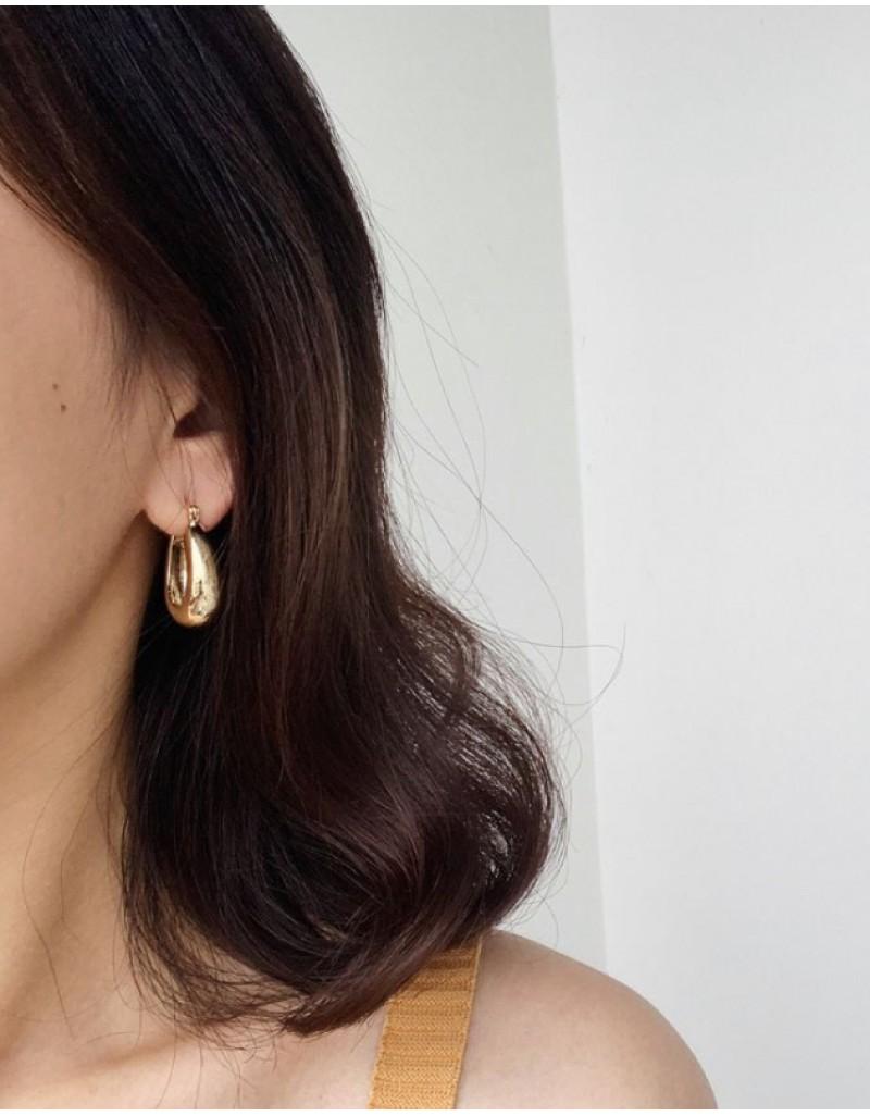 LYRA Gold Hoop Earrings | Big size