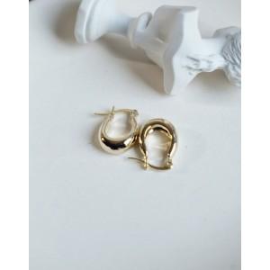 LYRA Gold Hoop Earrings   Small size