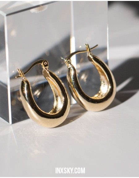 LYRA Gold Hoop Earrings | Big size