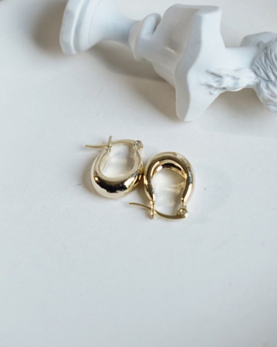 LYRA Gold Hoop Earrings | Small size