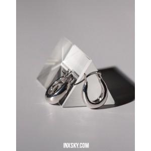 LYRA Silver Hoop Earrings   Small size