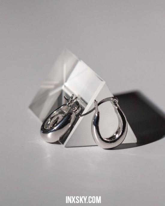 LYRA Silver Hoop Earrings | Small size