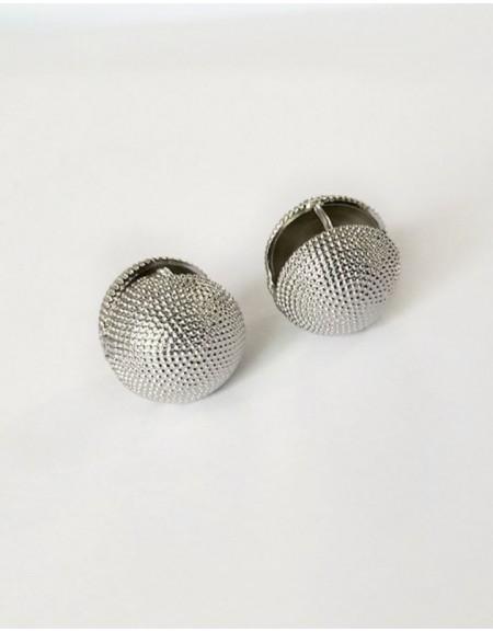 OLIVIA Silver Ball Earrings