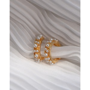 OPHELIA Pearl Hoop Earrings
