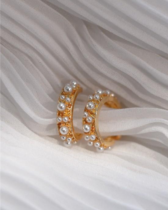 OPHELIA Pearl Hoop Earrings
