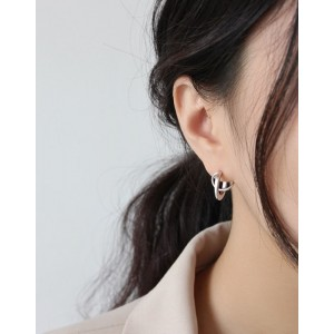 PAIGE Matte Silver Earrings