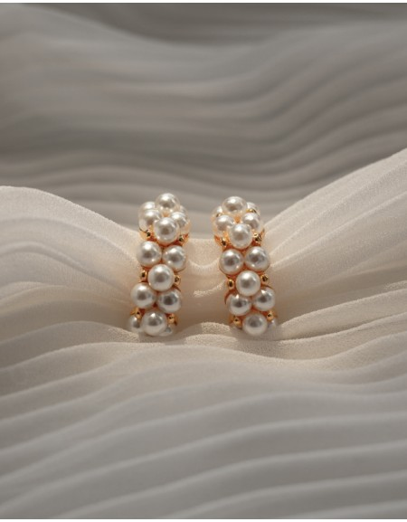 PERLE Pearl Hoop Earrings