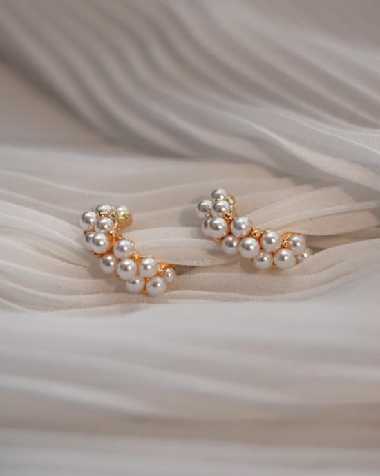 PERLE Pearl Hoop Earrings