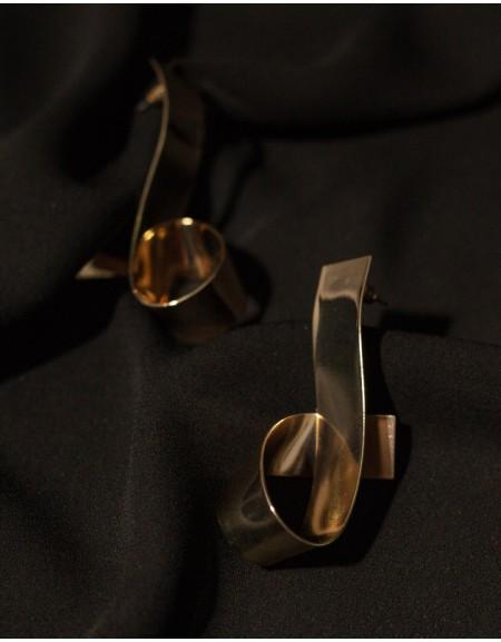 RIBBON Gold Earrings