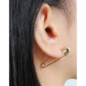 SAFETY PIN Gold Earrings