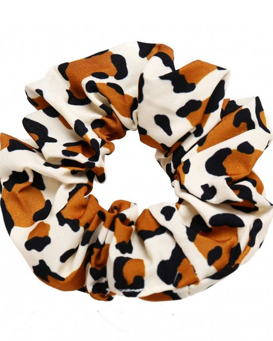 LEOPARD Scrunchie | Fawn Brown