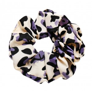 LEOPARD Scrunchie | Iris Purple