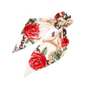 Rose Ponytail Holder | Creamy White