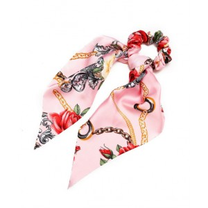 Rose Ponytail Holder | Cerise Pink