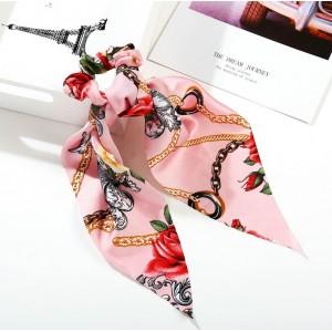 Rose Ponytail Holder   Cerise Pink