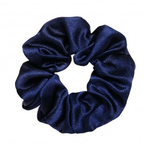 Silky Scrunchie | Navy Blue