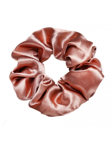 Silky Scrunchie | Peach Pink