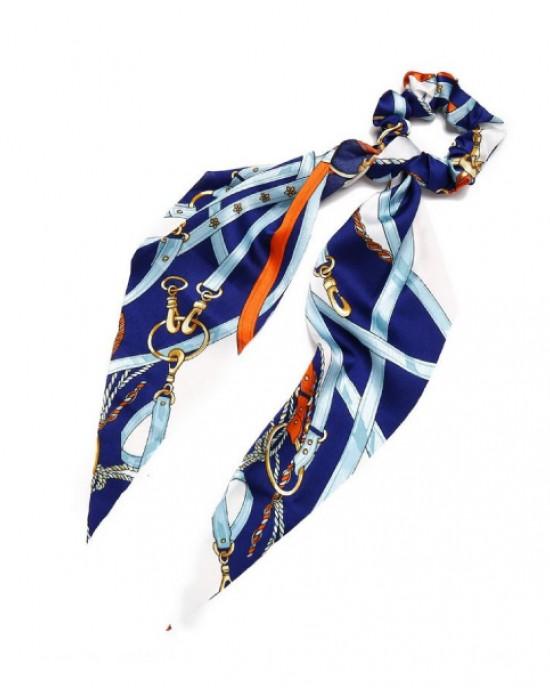 Strap Ponytail Holder | Royal Blue