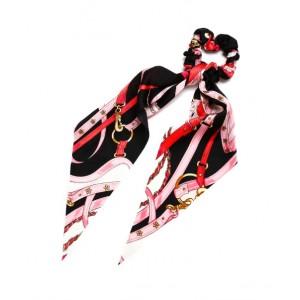 Strap Ponytail Holder   Jet Black
