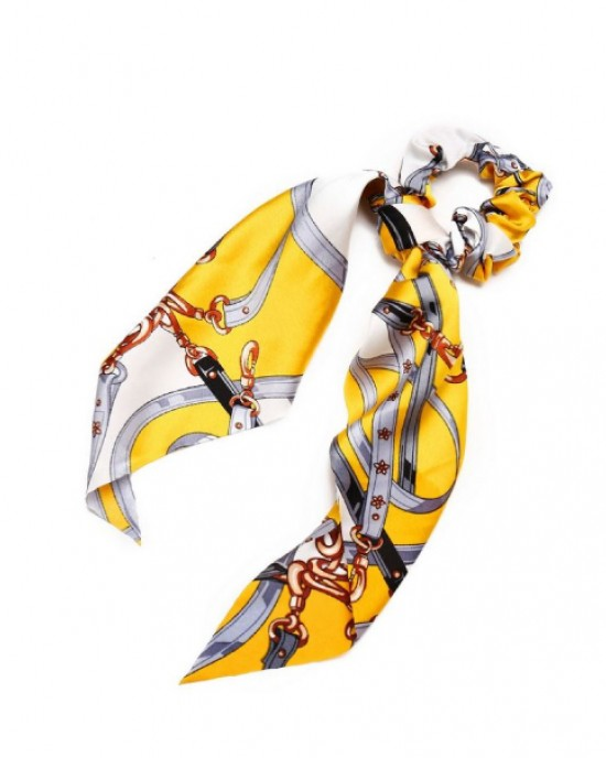 Strap Ponytail Holder   Electric Yellow