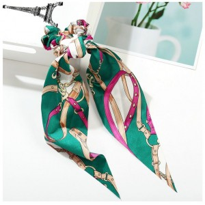 Strap Ponytail Holder   Emerald Green