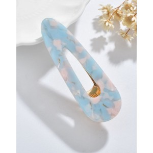 COTTON CANDY Hinged Barrette | Waterdrop - Candy Blue