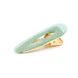 GLITTERFALL Hinged Barrette | Waterdrop - Glitter Green