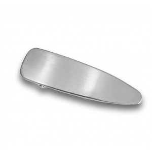 IRON Hinged Barrette | Filled Silver