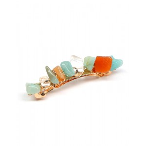 JADE Hair Barrette | Green Natural Stones