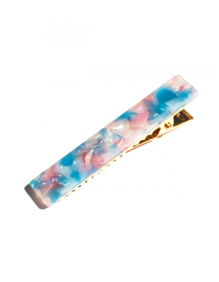 JOY Hinged Barrette | Long Hair Pin - Sky Blue
